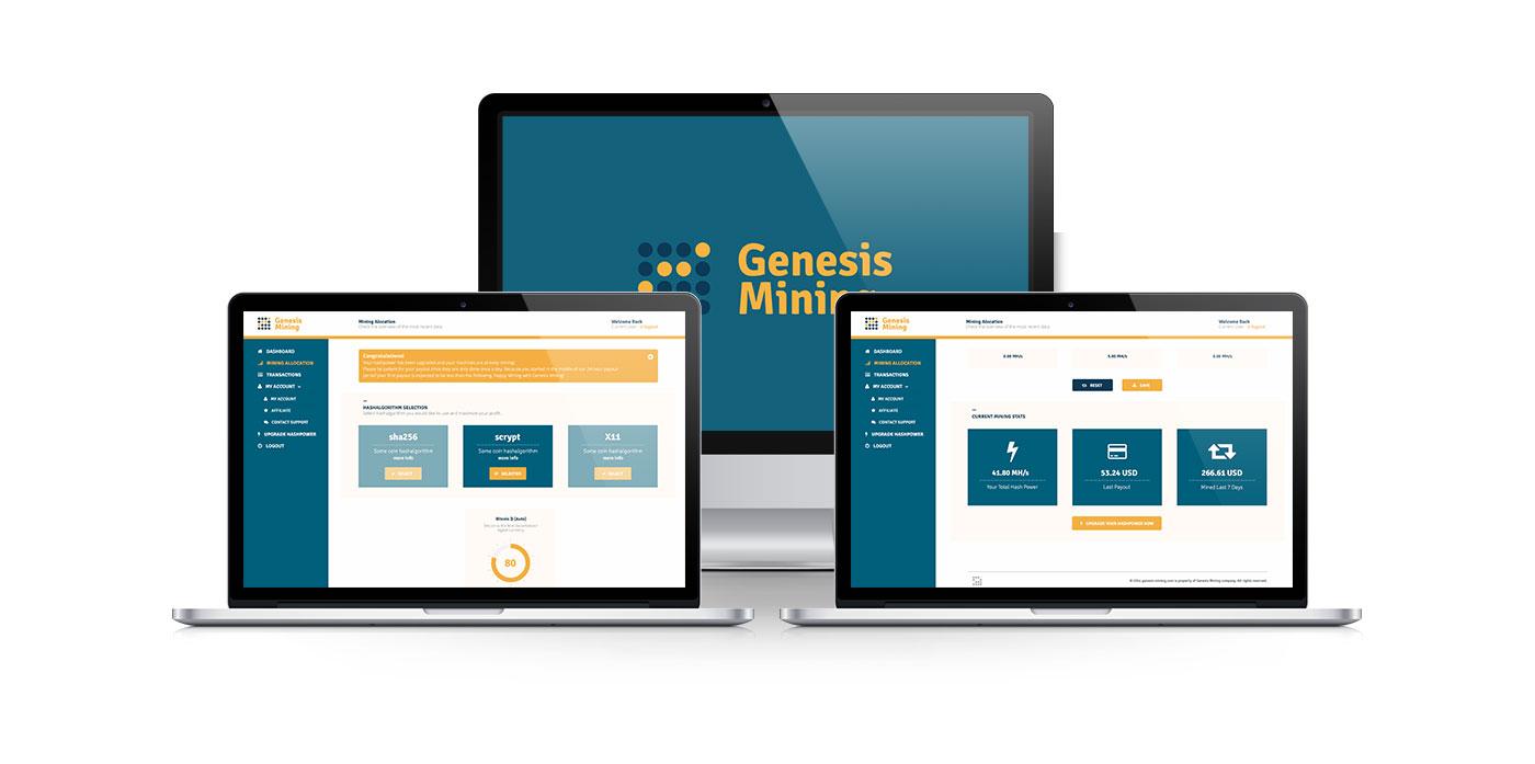 Ťaženie bitcoinov - Genesis Mining
